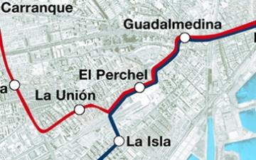 Metro Málaga aborda la reposición de la calzada en Callejones del Perchel una vez finalizada la obra del techo del túnel